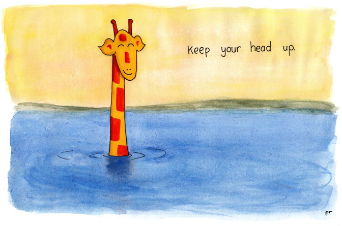 December 8 2014 Keep Your Head Up Motivating Giraffe