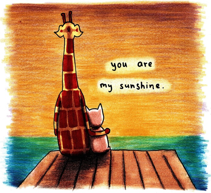 Giraffe Quotes: July 7, 2016 – You Are My Sunshine